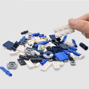 Free assembled building blocks