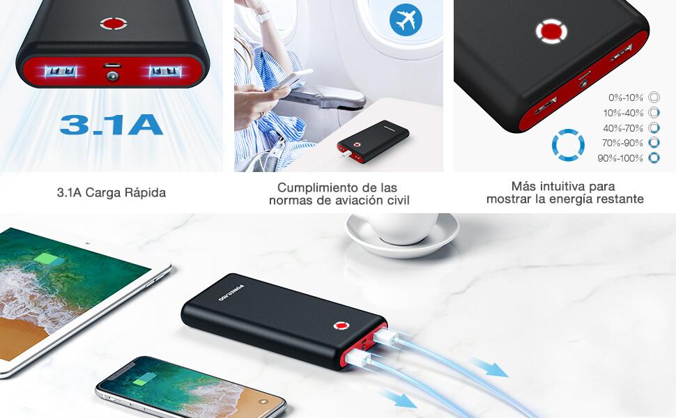 Powerbank 20000mAh USB 3.1