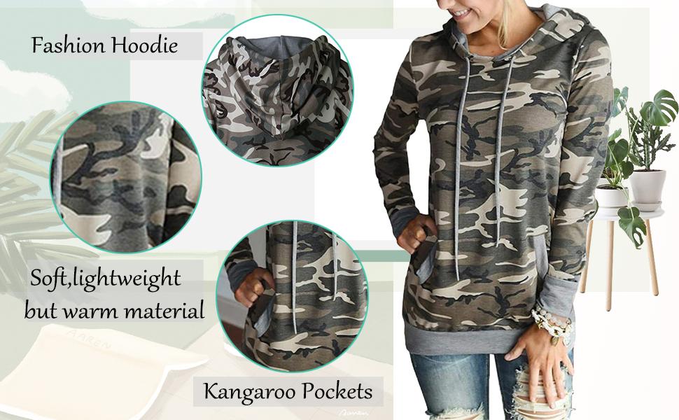 onlypuff hoodie sweatshirts for women floral print hoodies pocket tunic tops