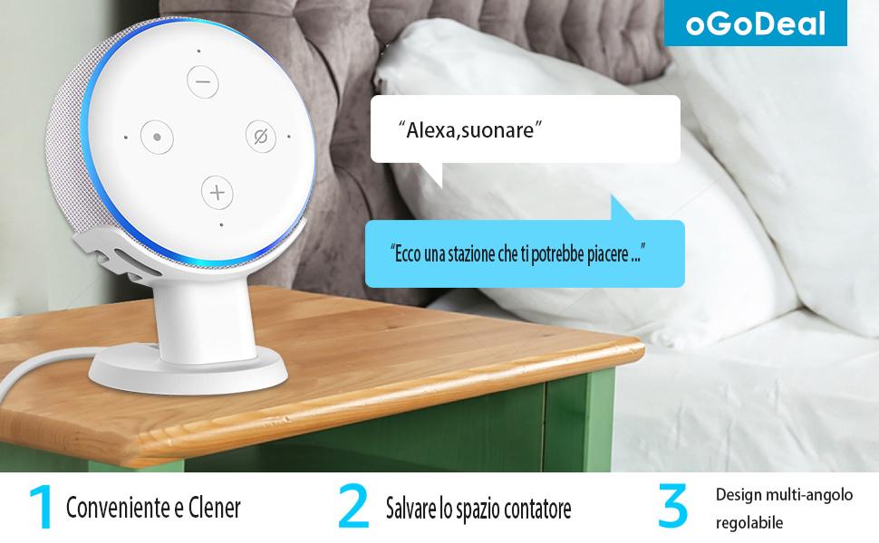 stand da scrivania per Echo Dot di 3a generazione