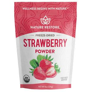 nature restore organic strawberry powder
