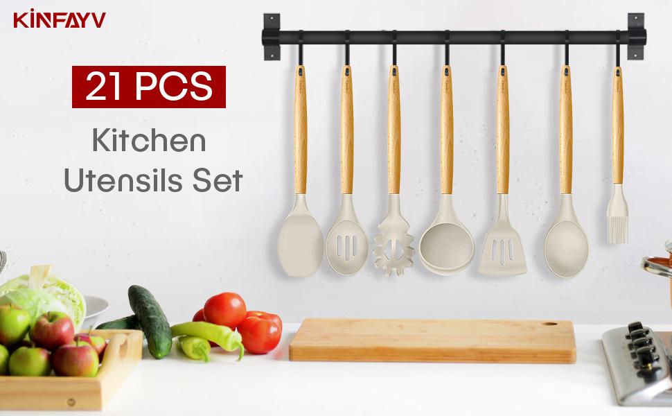 cooking utensils set kitchen utensils set silicone cooking utensils kitchen utensils