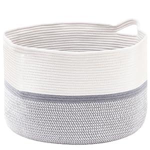 laundry basket hamper large cotton rope