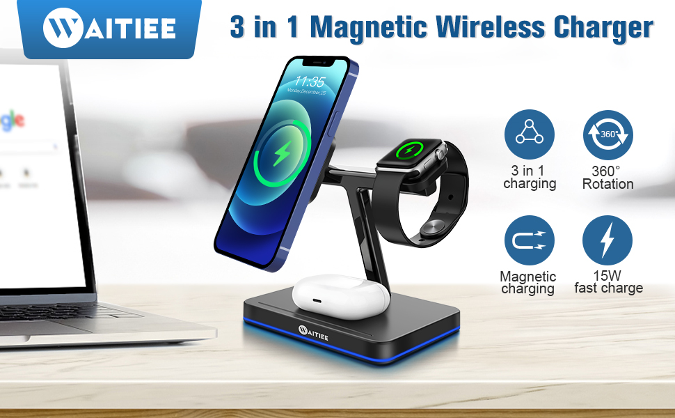 WAITIEE Magnetic Wireless Charger
