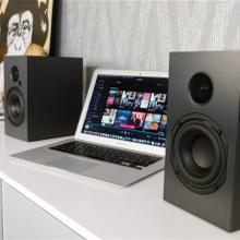 Nubert nuBox A-125 Schwarz ohne Blende an PC