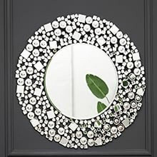 Wandspiegel gross Rund Sunburst Design