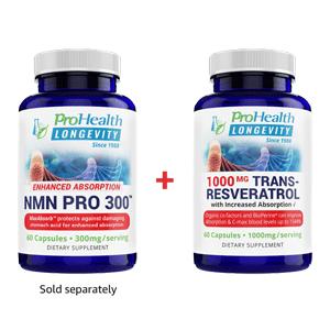 nmn pro 300, trans-resveratrol, prohealth
