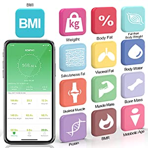 2a572210 60b6 4ef4 8fb6 300713a970d8.  CR0,0,600,600 PT0 SX300 V1    - RENPHO Bluetooth Body Fat Scale Smart BMI Scale Digital Bathroom Wireless Weight Scale, Body Composition Analyzer with Smartphone App 396 lbs - Black