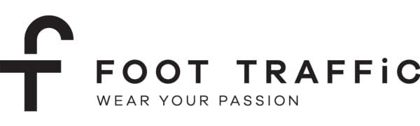 foot traffic, logo, socks