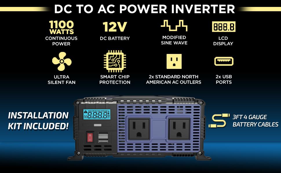 RV van truck power inverters dc 12v 110v ac dc volt inverter converter auto inversor corriente