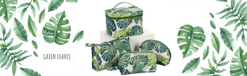 tropical makeup bag