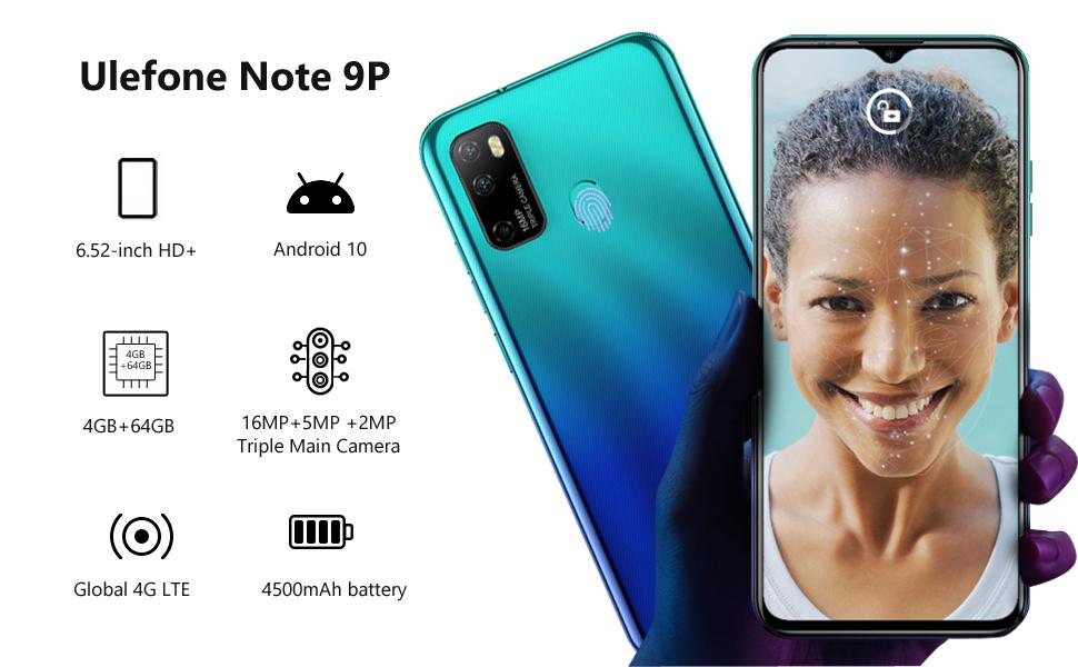 ulefone note 9p, ulefone, unlocked cell phones, unlocked phones, unlocked smartphone