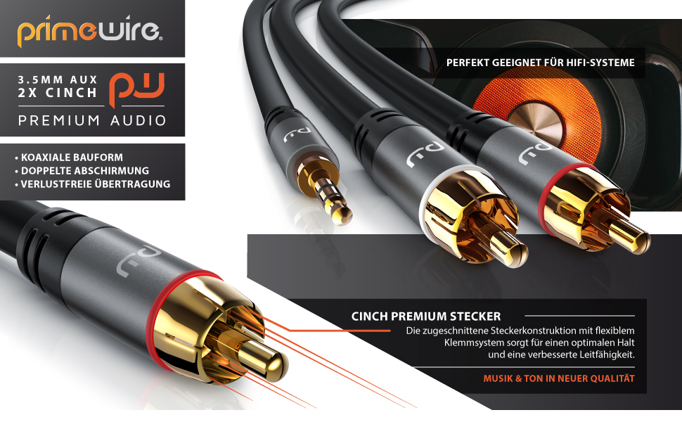 Primewire CInch AUX Kabel