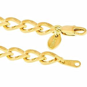 gold anklet ankle bracelet women men teen girl boy unisex lifetime jewelry 24k