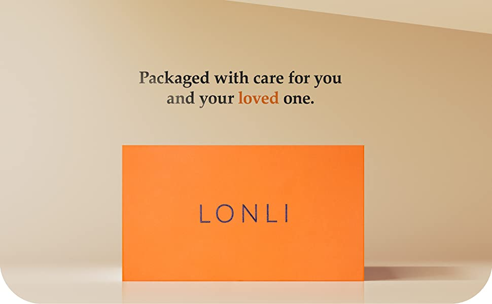 lonli package packaging gift orange box idea Christmas thanksgiving new year parent gift friend