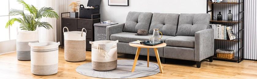 YOUDENOVA Blanket Basket for Living Room