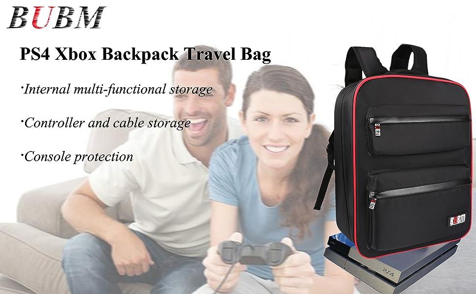 PS4 storage bag, backpack travel bag