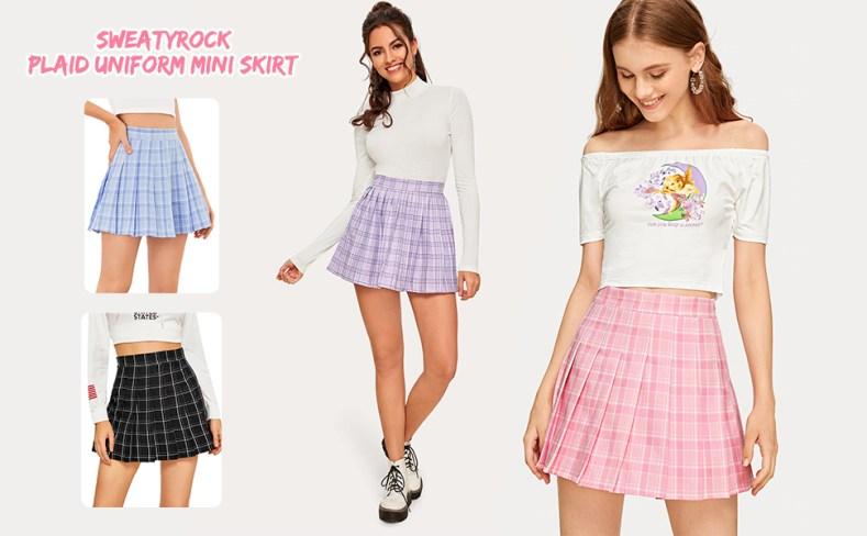 plaid tartan mini skirt