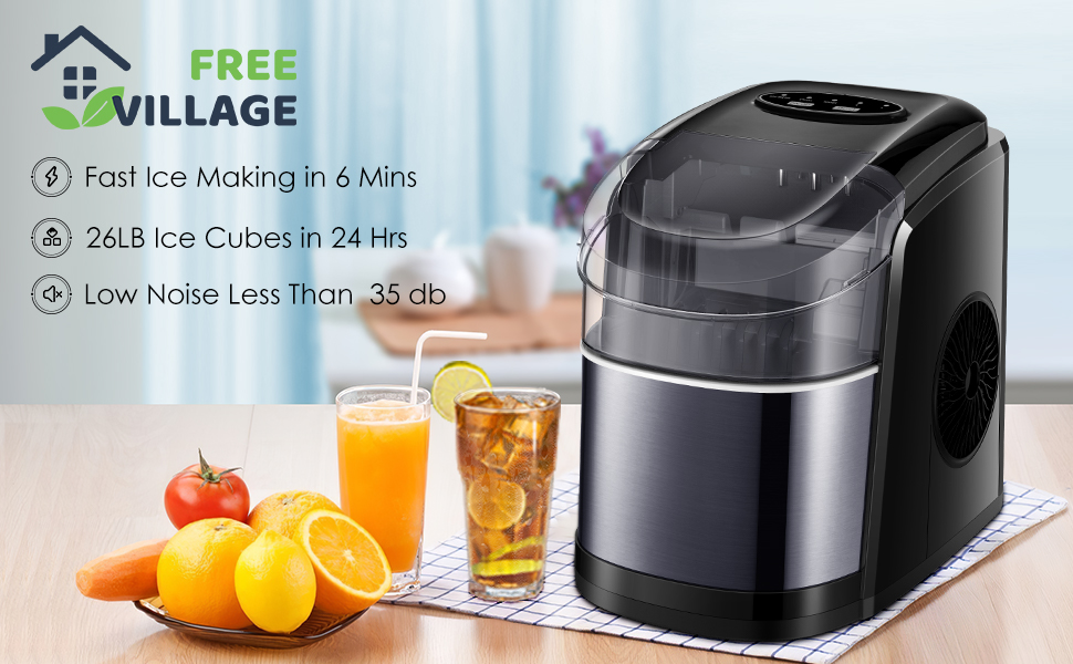 Efficent and Quite Countertop Ice Maker