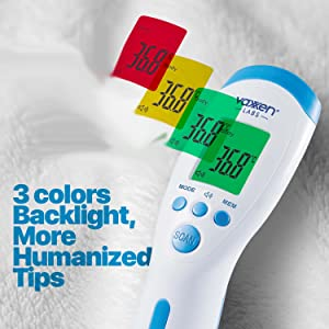 3 colors backlight humanized tips readings celsius farenheit