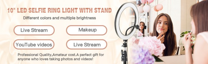 10 INCH SELFIE RING LIGHT WITH STAND