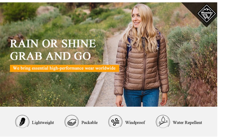 womens winter down jacket