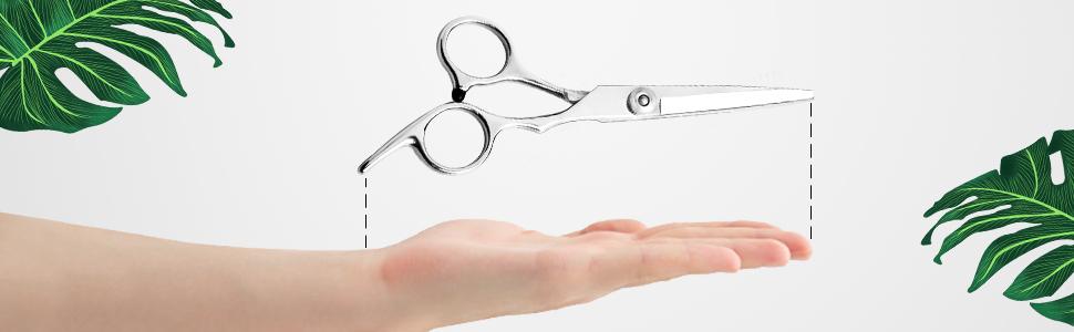 Hair cutting professional scissors silver