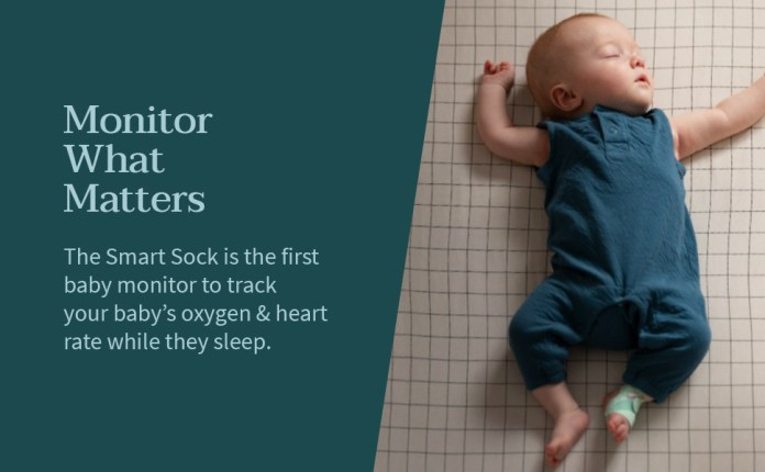 Baby Monitor Owlet New Smart Sock 3 Baby Monitor Tracks Heart Rate Oxygen And Sleep Trends Amazon Co Uk Baby