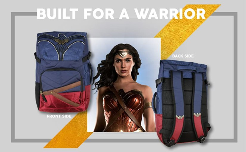 Wonder Woman Backpack With Padded Laptop Sleeve Holiday Christmas Gift Gal Gadot 1984
