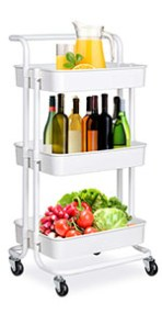utility rolling cart 3 tier