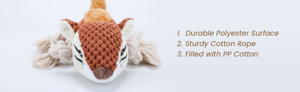 Squirrel Squeaky Dog Plush Toy