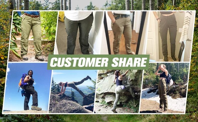 Zip off Convertible pants for Women gardening pants women women's work cargo pants stretch camo