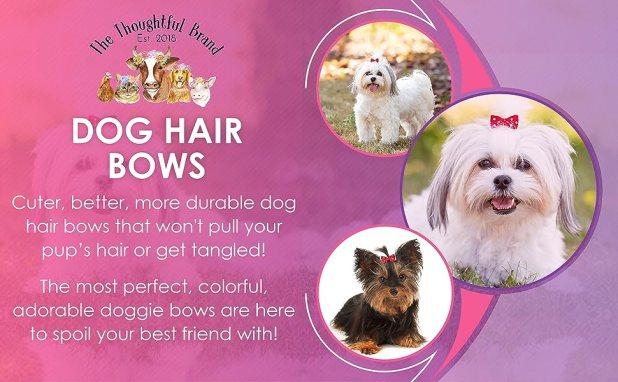 50 Pcs Dog Bows