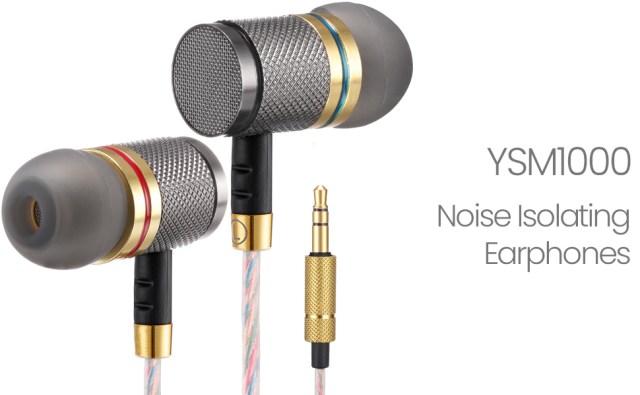 Betron Ysm1000 tangle free earphones noise isolating