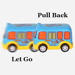 Pull Back Let Go Push Friction Powered Bright Light Vehicles Sturdy