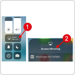 Apple iOS device Airplay Screen Mirroring
