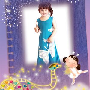 Little girl summer dancing dress
