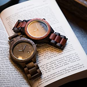 zeitholz wooden watch watches for men women box ladies wrist watch leather sustainable natural wood