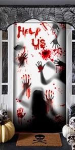 Halloween door cover