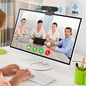 Built-in Micorphone make this webcam prefect for video calling.