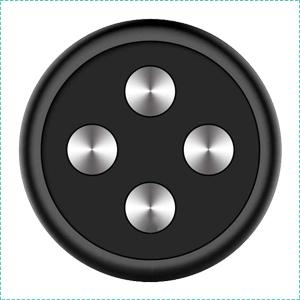 Universal Stick On Magnetic Phone Mount Holder Black (2 Pack)