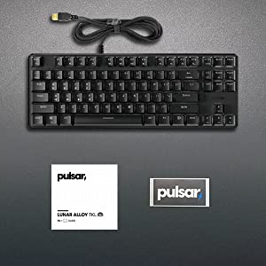 Package content for Lunar Alloy TKL Mechanical Gaming Keyboard