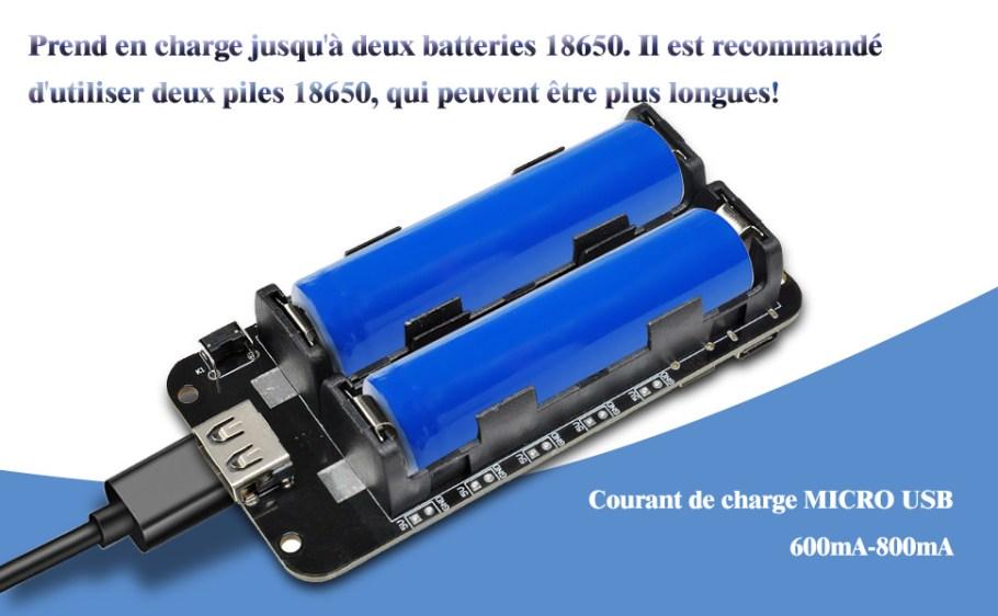 18650 Blindage de Batterie V8