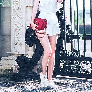white slip on shoes for women
