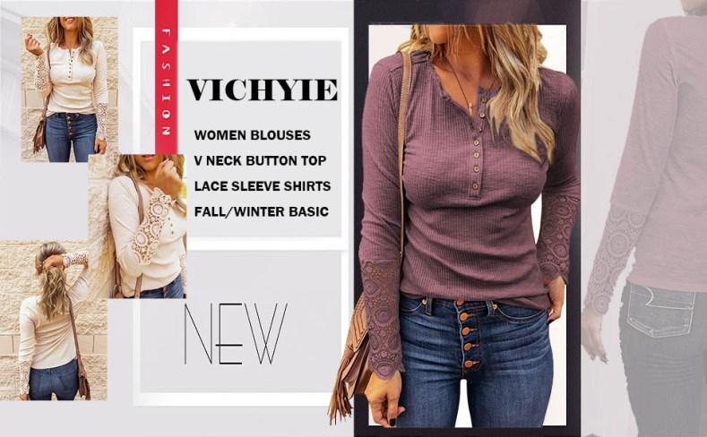 button v neck shirts women