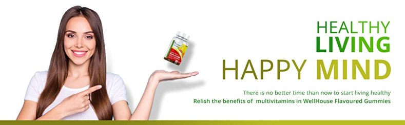 Multivitamins, Healthy Living, Lefestyle, Dietary Supplements, Gummies, WellHouse, Flavour Gummies