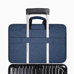 13.5-15 inch Laptop Briefcase with Luggage Belt