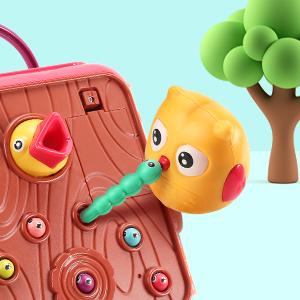 Fun Birds Catch Worms