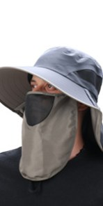 UPF50 Neck Face Flap Hat