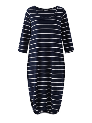 Striped dress for women t shirt dresses uk 3/4 long sleeve dress